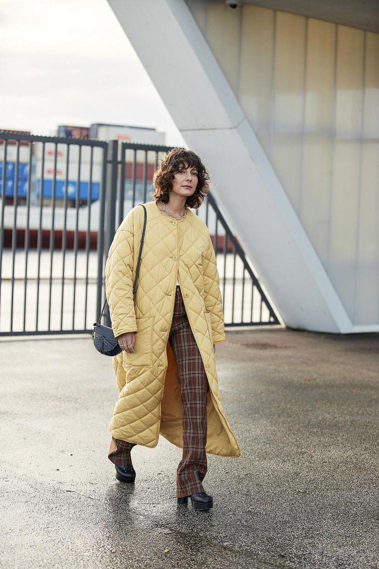 pale yellow women's coat