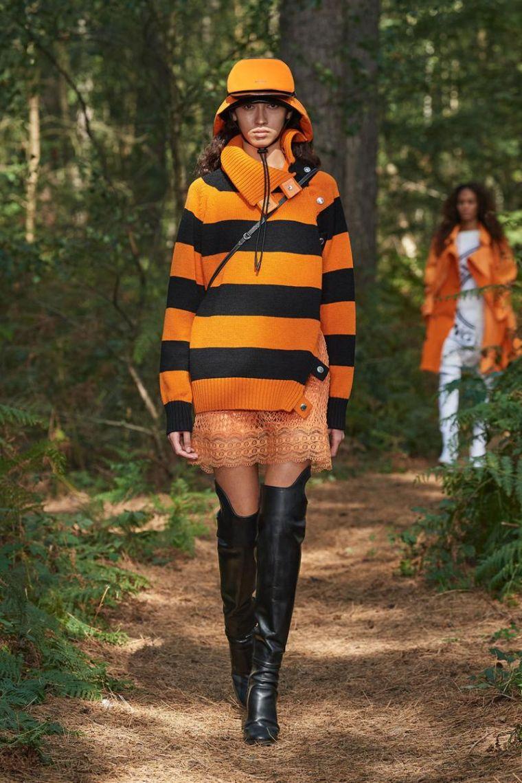 tenue burberry avec pull moderne
