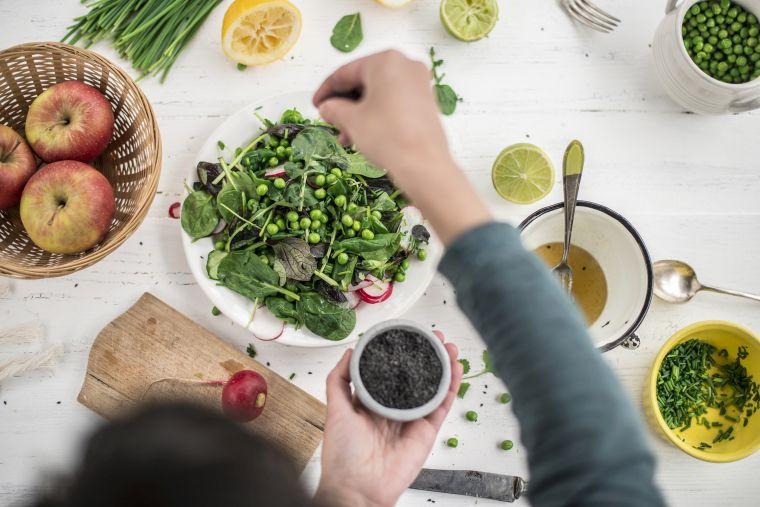 salade de légume à l'huile