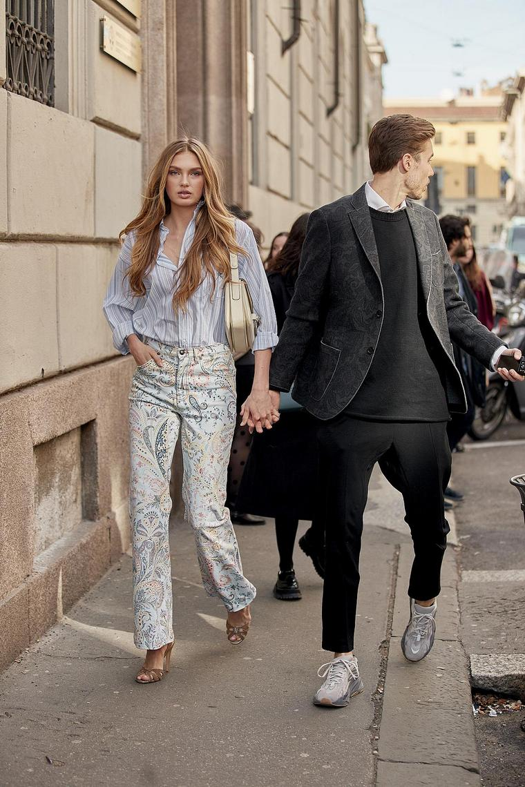 young couple daring clothing