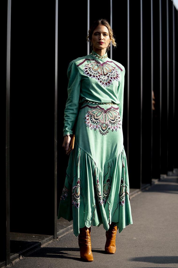 floral design long dress