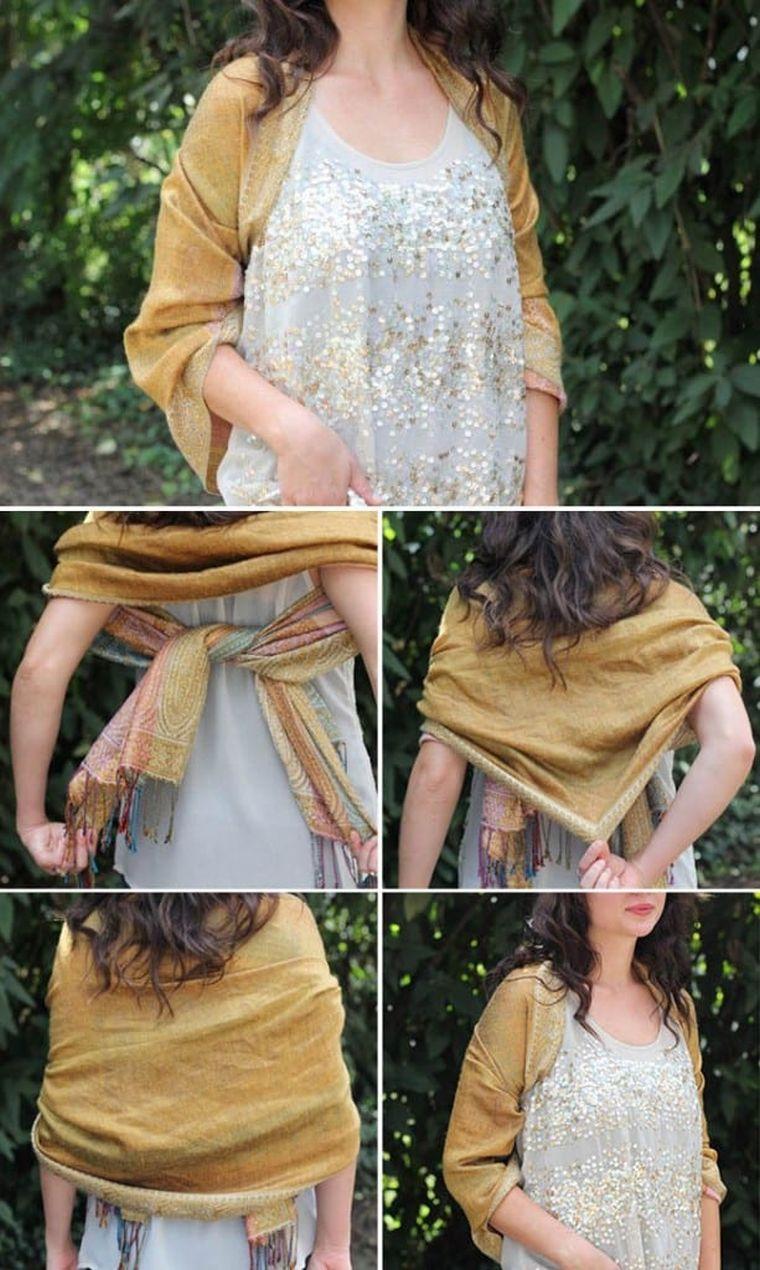 écharpe à la mode de type châle