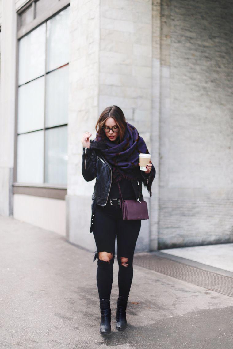 écharpe-couverture design