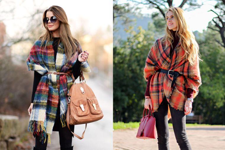 écharpe-couverture pour l'hiver