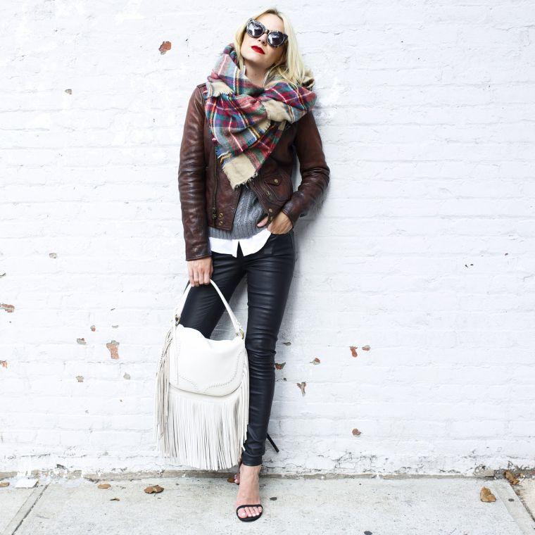 écharpe-couverture oversize