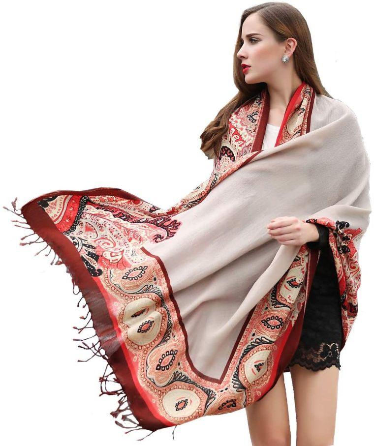 écharpe pashmina traditionnelle