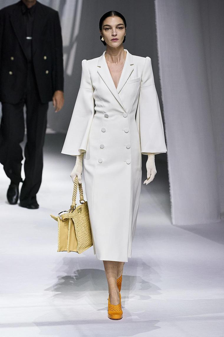 élégance absolue top blanc fendi