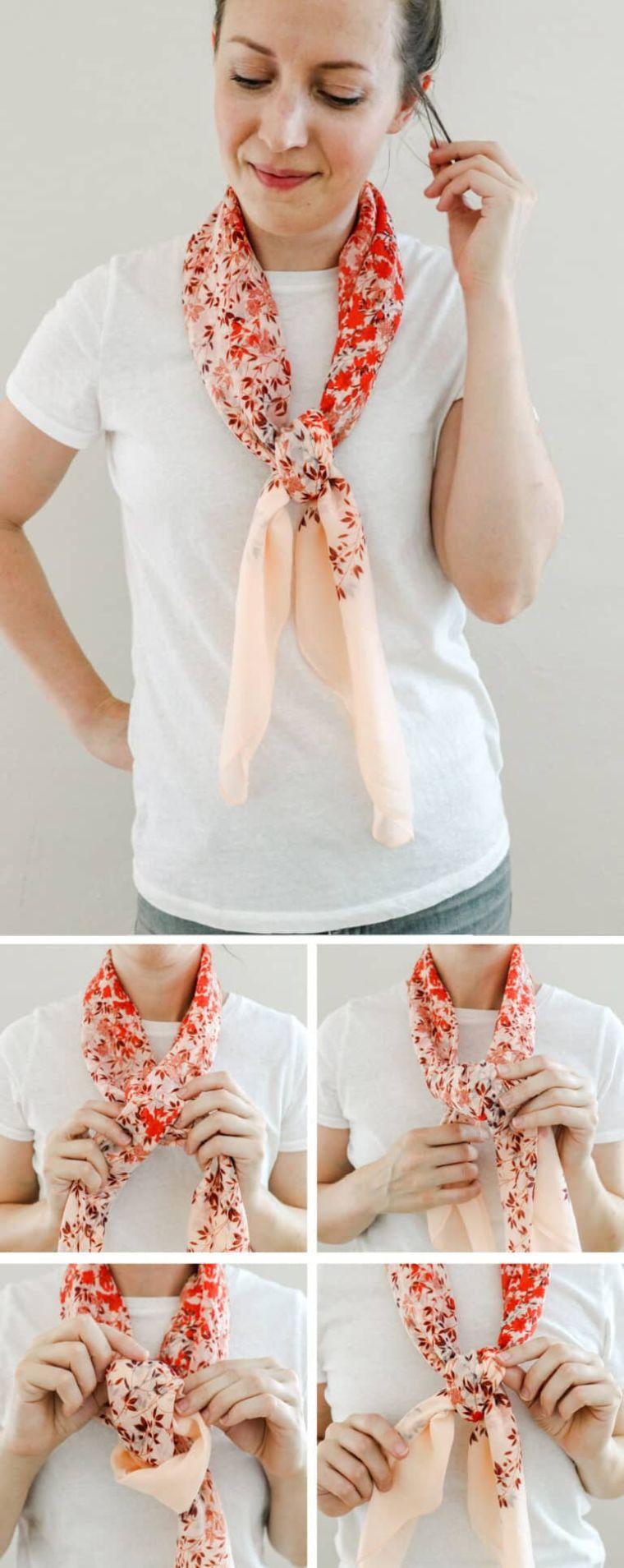 façons de porter une écharpe cravate
