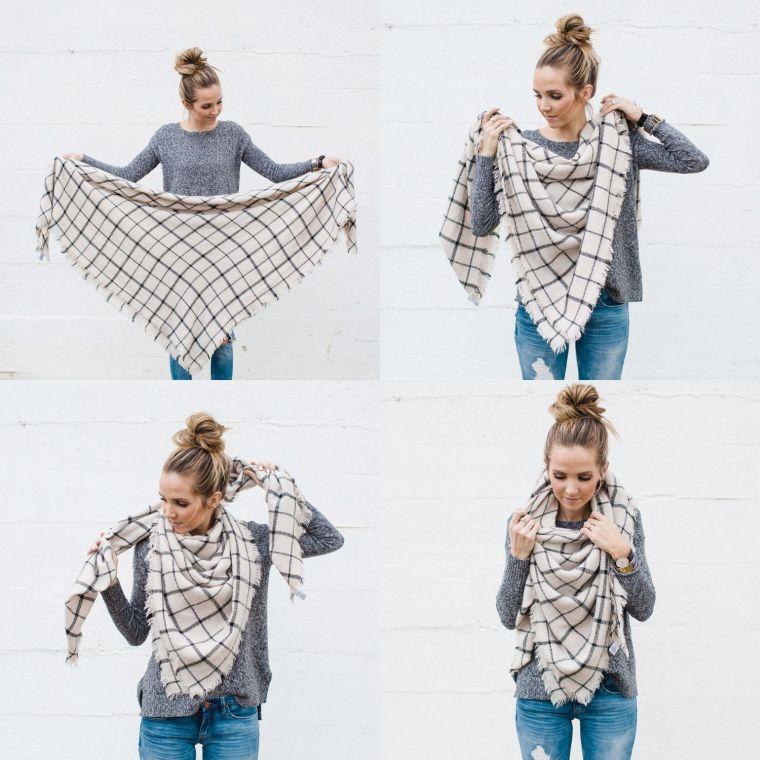 façons de mettre une écharpe grande