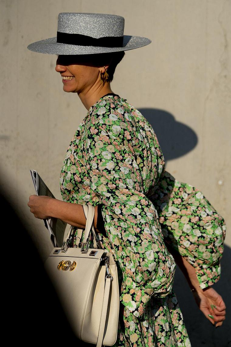 woman milan dress flowers
