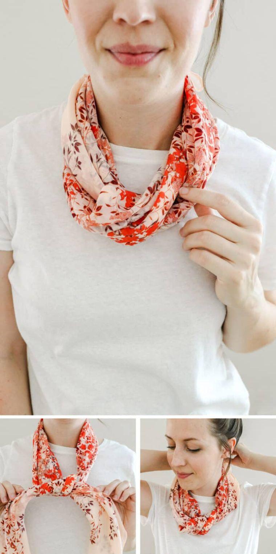 foulard colier torsadé
