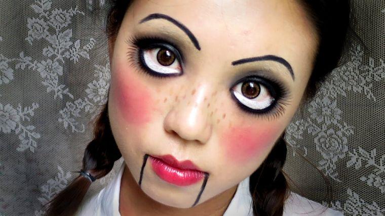 idée pour maquillage intéressant pour Halloween