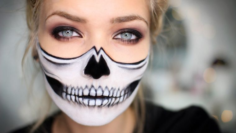 idée de maquillage simple pour Halloween