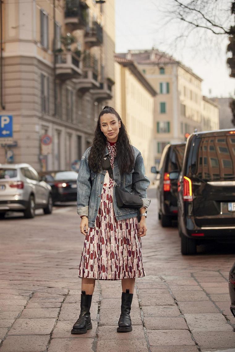 floral pattern girl skirt