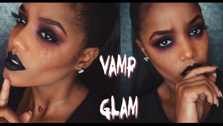 maquillage Halloween visage: vampire demon