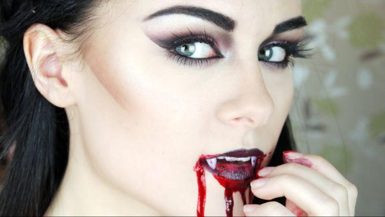 maquillage Hallowee,n visage: vampire sexy