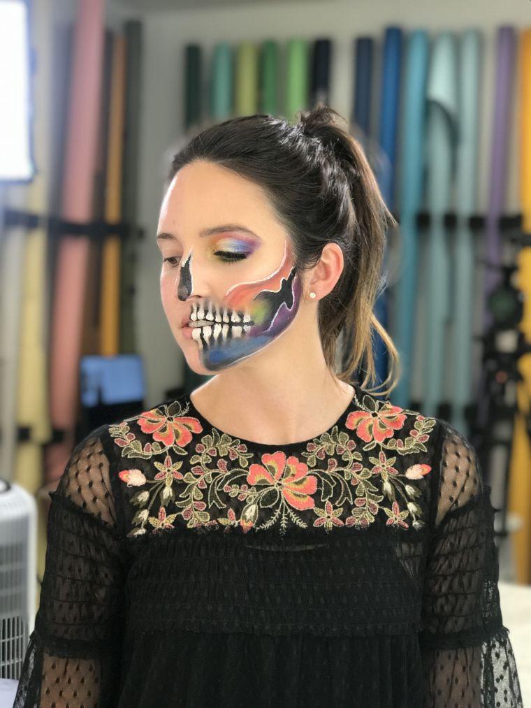 maquillage original pour Hallowee,=n