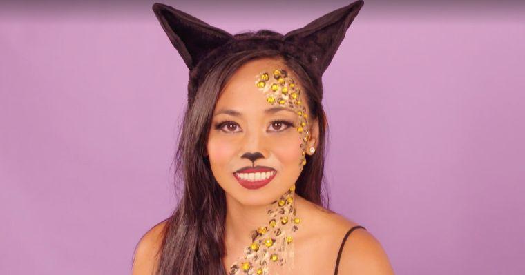 idée de maquillage tigre