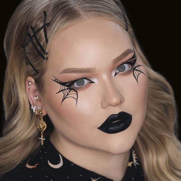 maquillage avec toile d'araignée