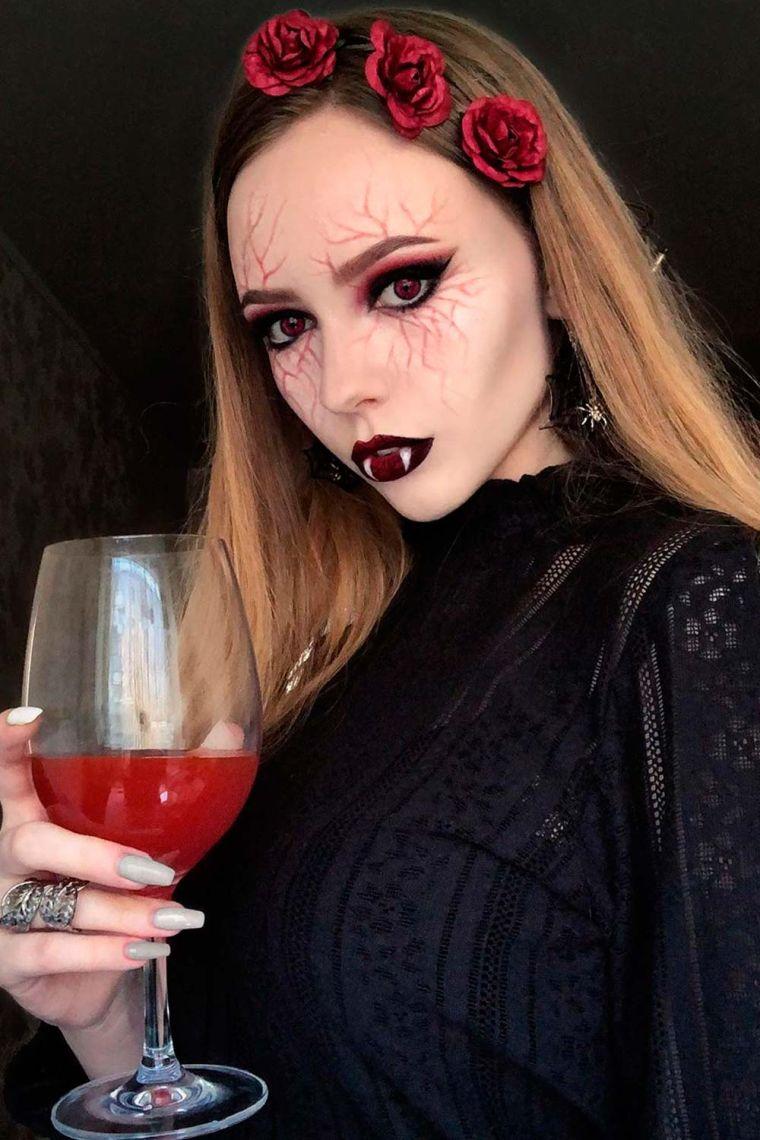 maquillage de vampire pour Halloween