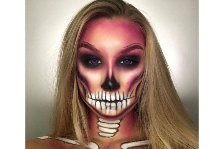 maquillage visage pour Halloween