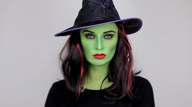 maquillage avec visage vert