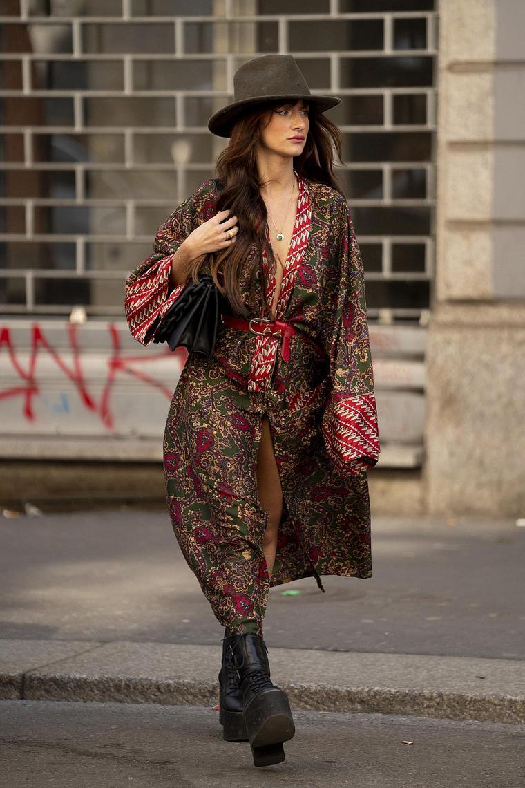 Milan street garment floral design