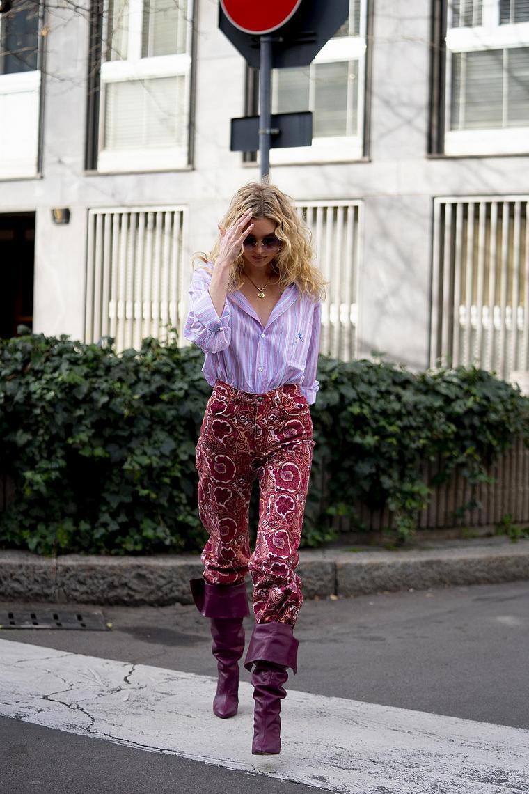 fresh street style pink pants