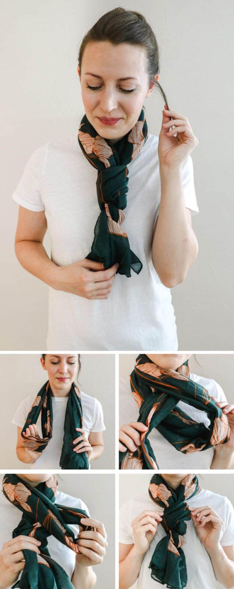 portrer une écharpe en tresse