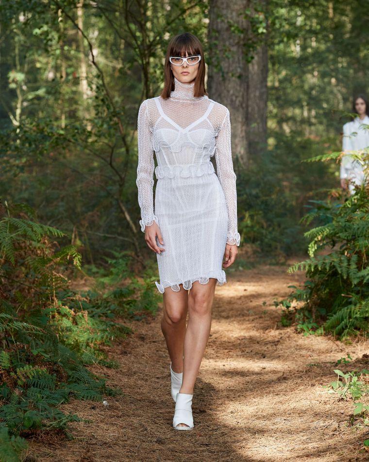robe femme printemps en blanc