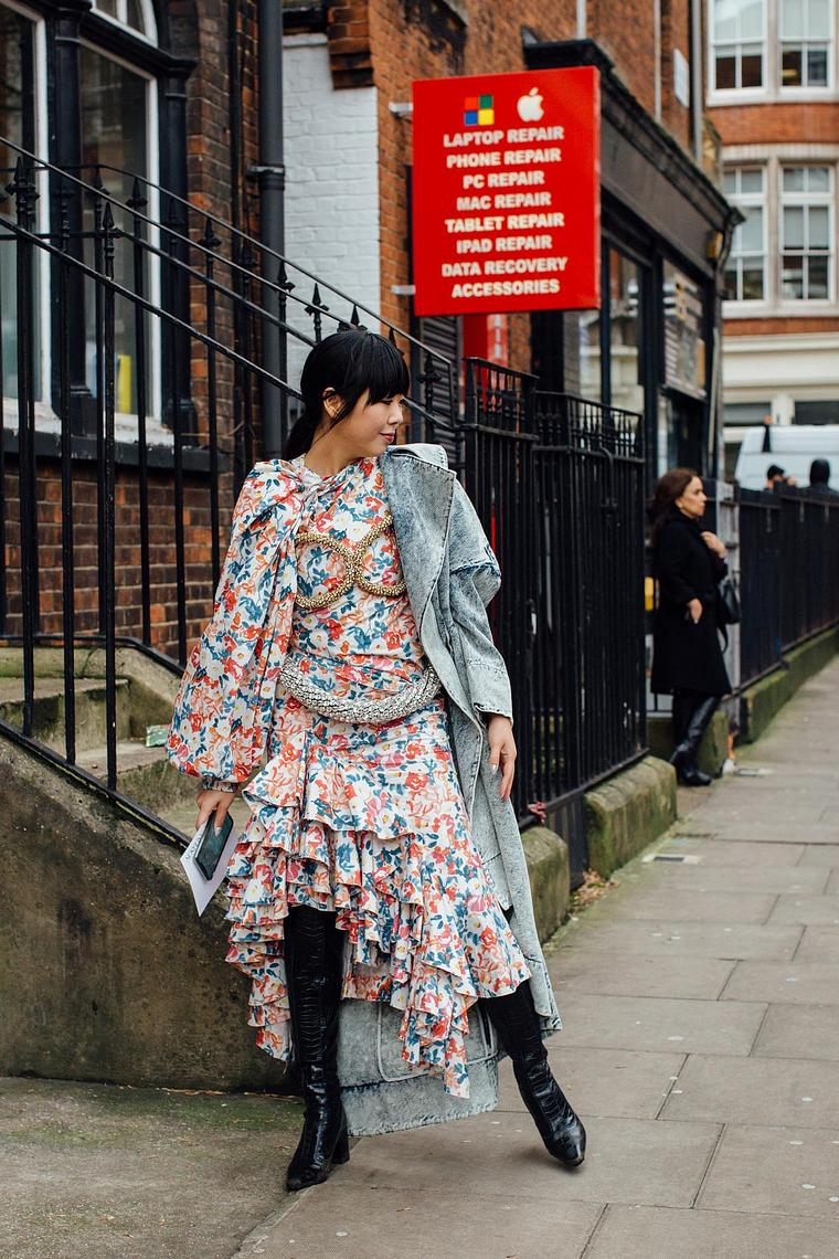 London floral boho chic style