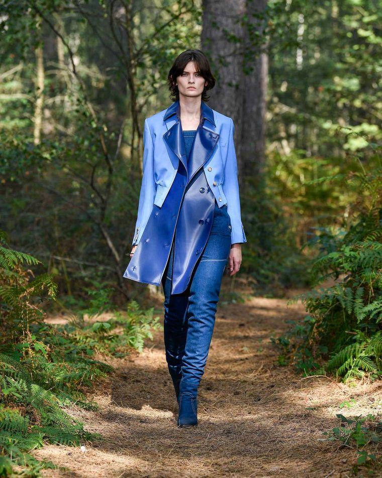 veste femme en bleu par Burberry