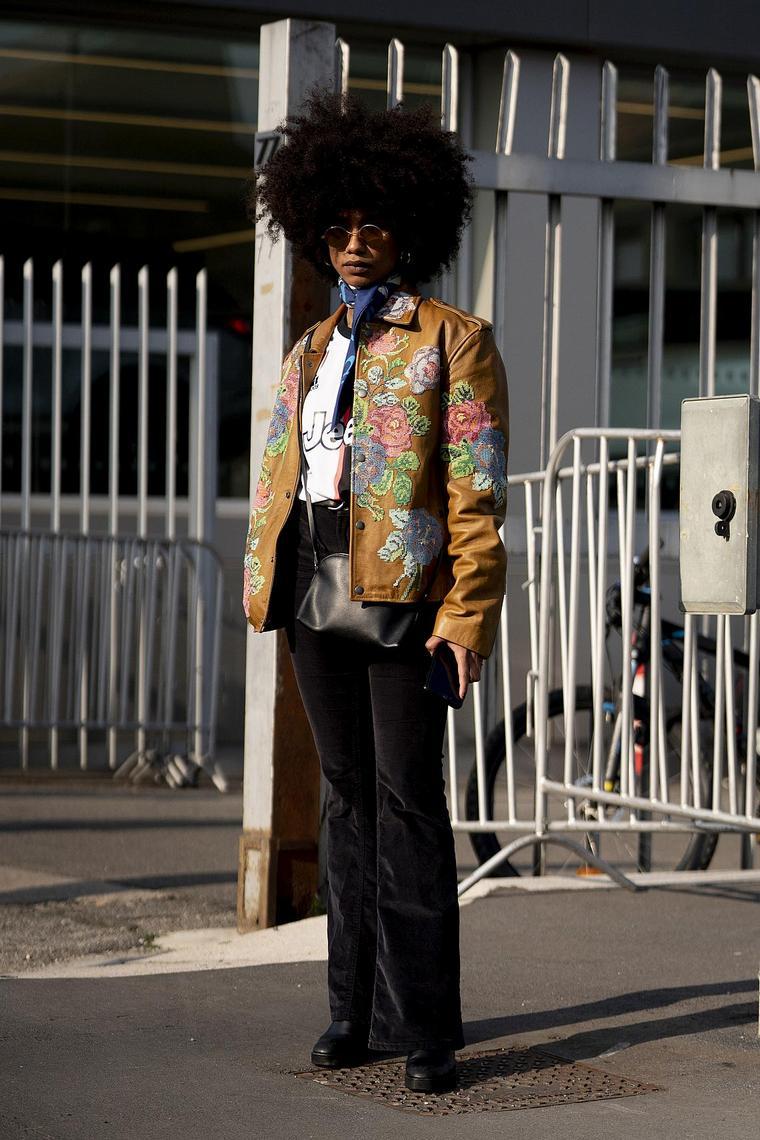 street style floral pattern jacket