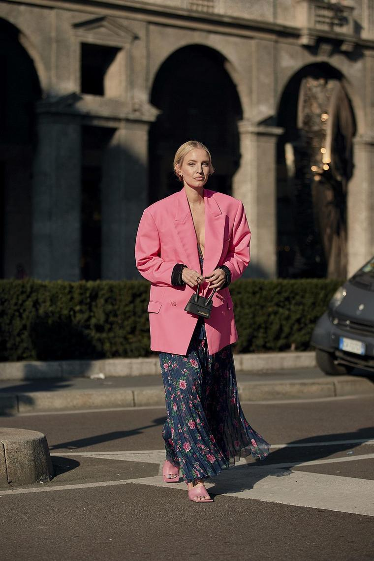 pink street style jacket