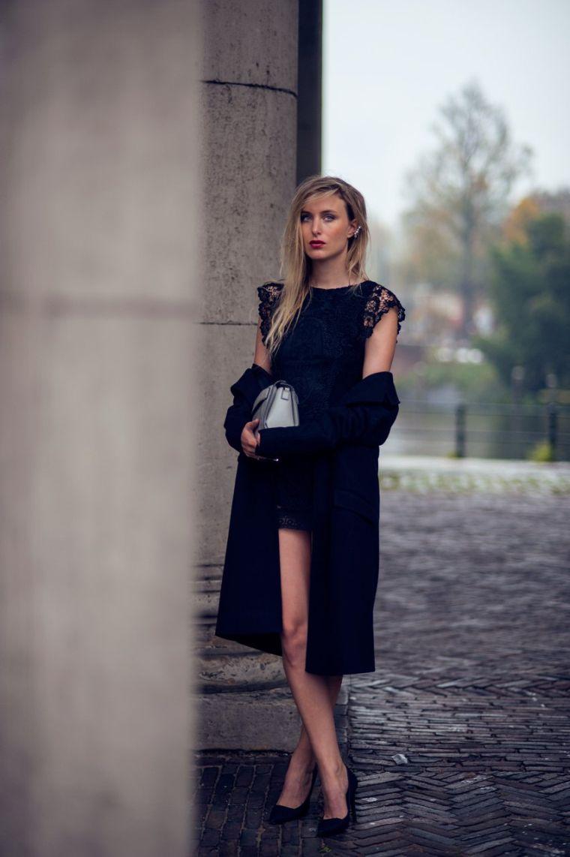 look soirée avec robe noire