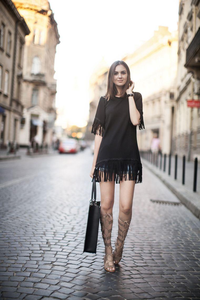 robe noire décontractée