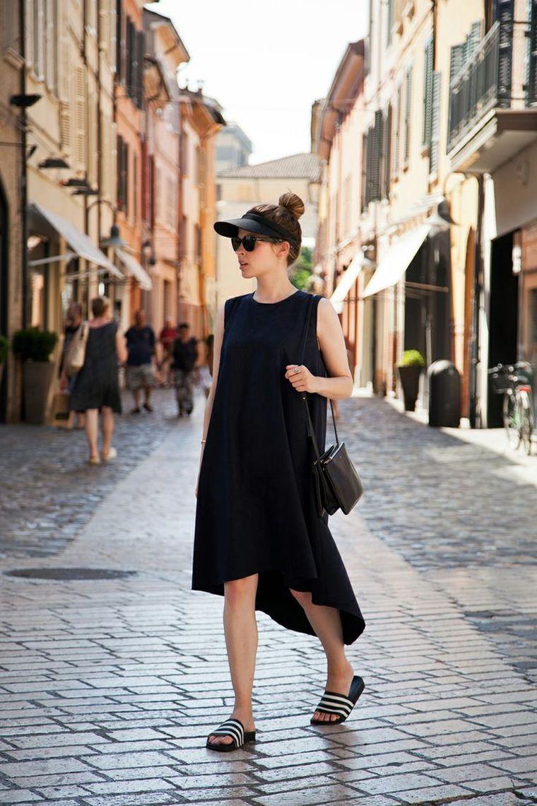 tenue avec robe noire