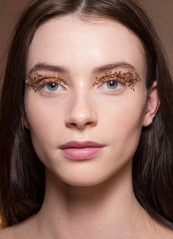 New Year's makeup 2021: ideas for a note photo # 2