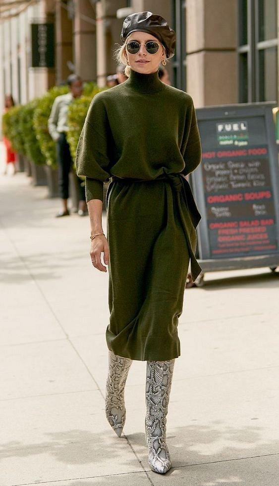 Sweater dress: top-25 best photos # 2