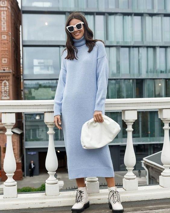 Sweater-dress: top-25 best photos # 10