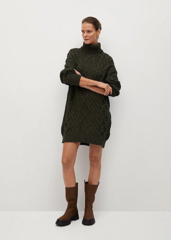 Sweater-dress: top-25 best photos # 14