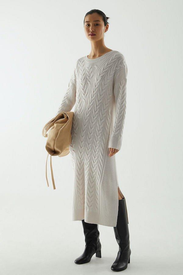Sweater-dress: top-25 best photos # 26