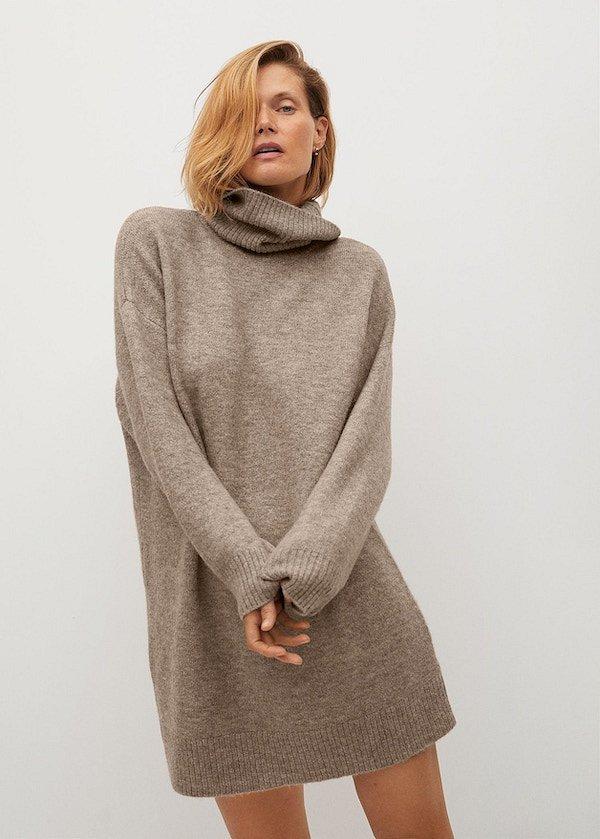 Sweater dress: top 25 best photos # 27