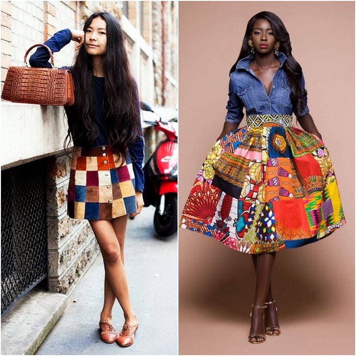 Clothes in the style of patchwork - a fashionable trend of the season photo # 9