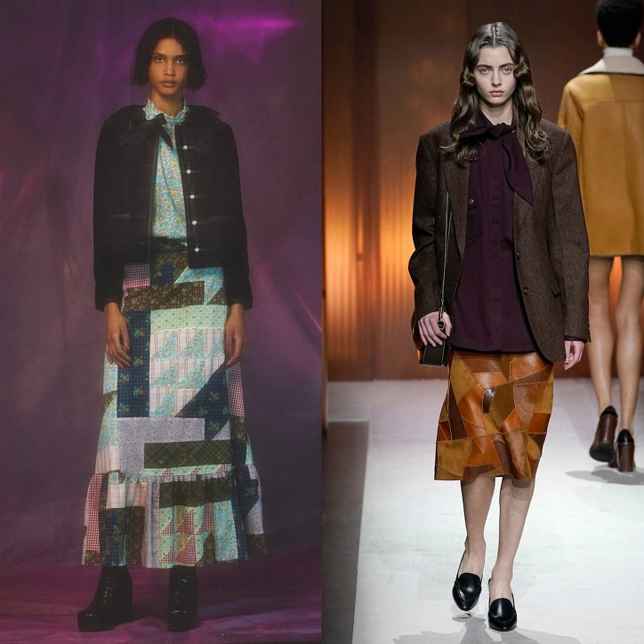 Clothes in the style of patchwork - a fashionable trend of the season photo # 7