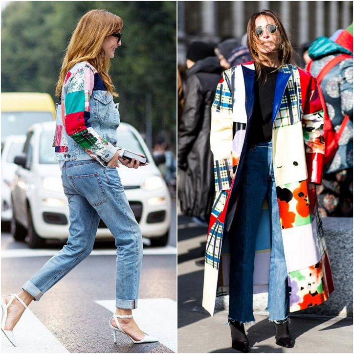 Clothes in the style of patchwork - fashion trend of the season photo # 14