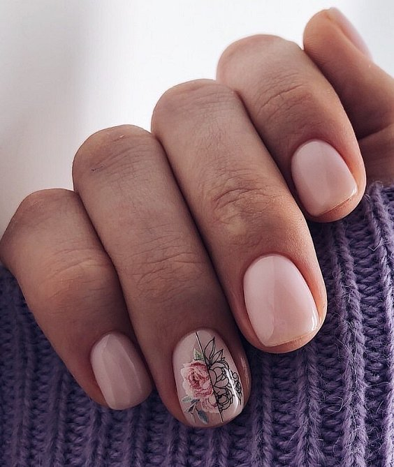 Nude manicure: 30 ideas for a note photo # 5