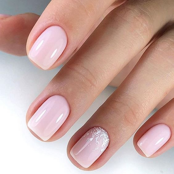 Nude manicure: 30 ideas for a note photo # 3