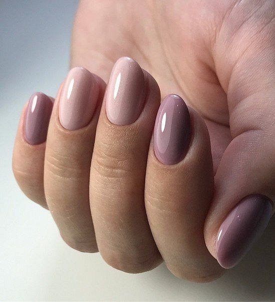 Nude manicure: 30 ideas for a note photo # 2