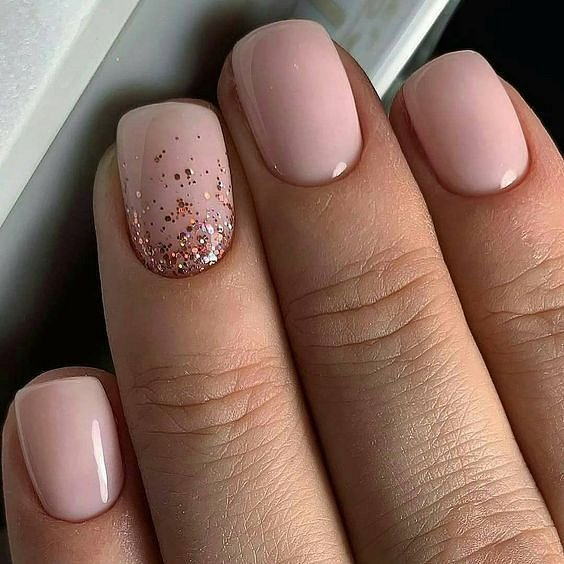 Nude manicure: 30 ideas for a note photo # 4